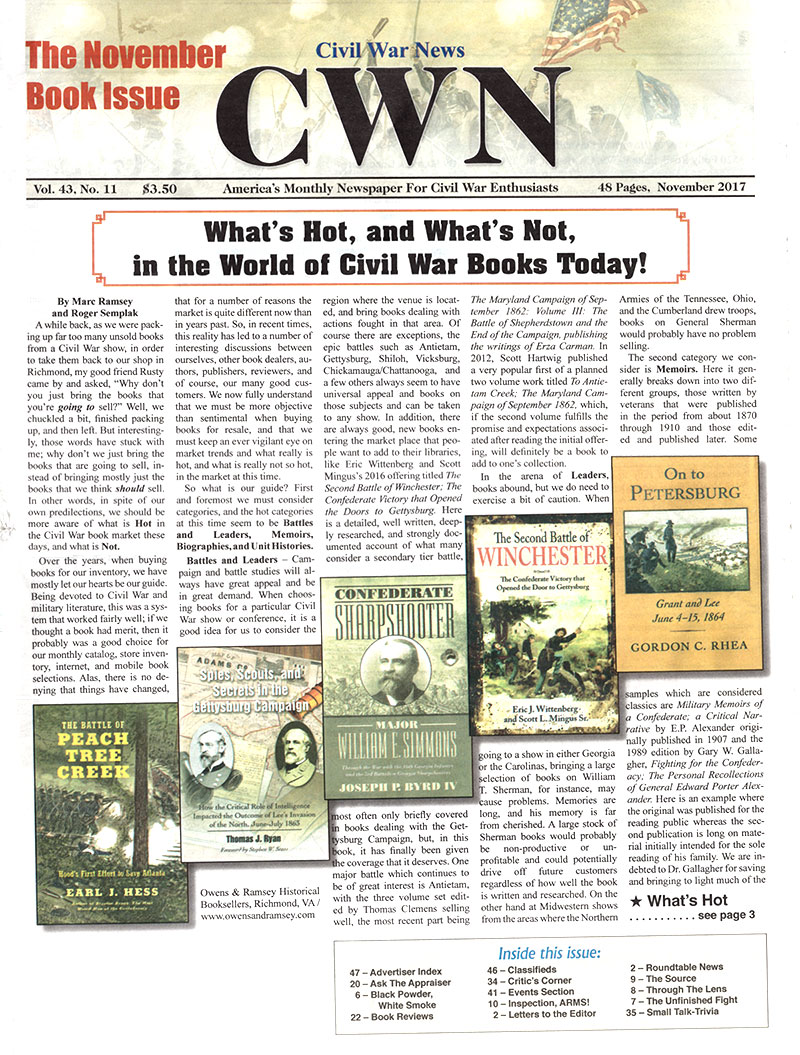 CWRT News Scan | Civil War Round Table of Augusta